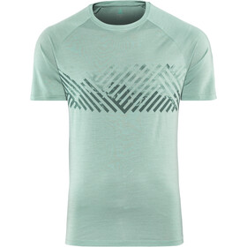 Odlo BL Concord Crew Neck T-shirt Heren, arctic-mountain stripe ss19